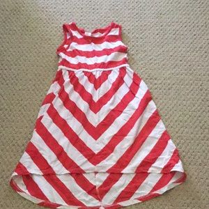 Gymboree red/white hi-lo dress